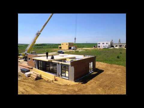 Le montage d 39 une maison ossature bois booa 2 tages for Achat dune maison