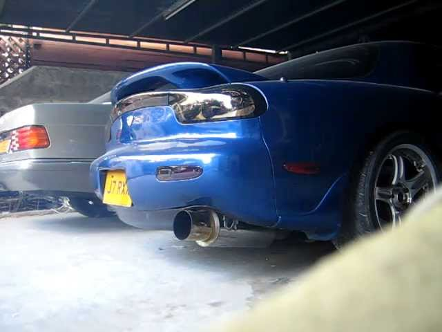 MAZDA  RX-7 FD3S WITH APEXi N1 EVO EXHAUST