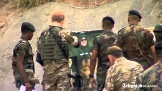 Prince Harry shows shooting skills