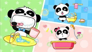Baby Panda's Habits - Play With Little Panda Care Games - Funny Gameplay Video