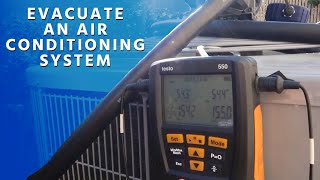 How to Evacuate an Air Conditioning System (Fast and Deep Vacuum)
