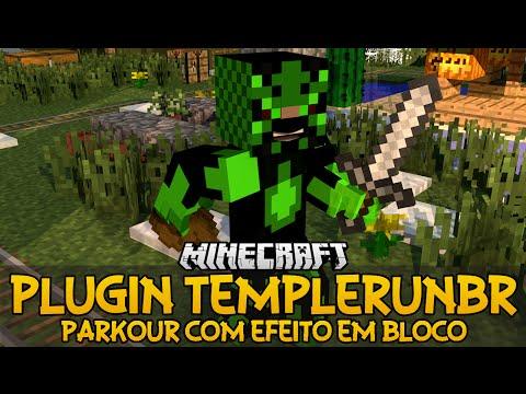 Plugin TempleRunBR - Parkour com efeito em Bloco Minecraft