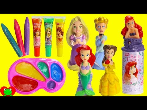 Disney Princess Bath Time Bath Paint, Body Crayons, and Ariel Foam
