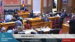 Colorado Senate 2019 Legislative Day 105