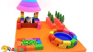 Learn Colors with Kinetic Sand Lego Stable For Kids - Creative Kids