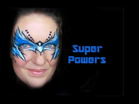 Super Powers Slide Show Face Paint Step by Step