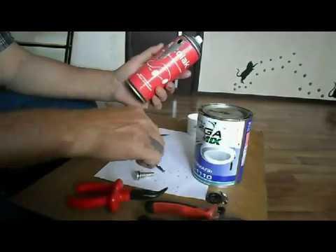 Как сделать баллончик для краски