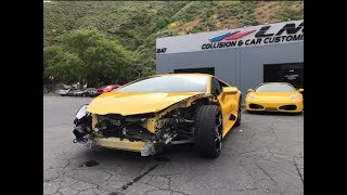 REBUILDING A WRECKED LAMBORGHINI HURACAN FROM COPART PART 2