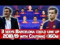 3 Ways Barcelona Could Line Up In 2018 19 With Coutinho 160m Barcelona Starting XI 2018 mp3