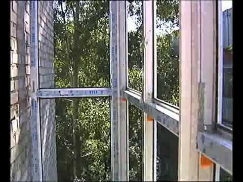 """Теплый балкон ч.1 """"французское пвх остекление балкона"""" на са."""