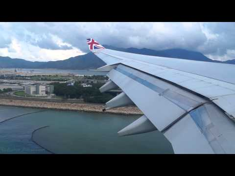 Virgin Atlantic - Airbus A340-642 - Landing Hong Kong Chek Lap Kok