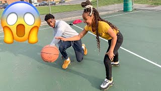 DID MY LITTLE SISTER JUST BEAT ME IN BASKETBALL!!!😱