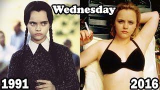 The Addams Family Then and Now |  La familia Addams  Antes y Después 2016