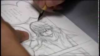 Takeshi Obata dibujando Bakuman (part 1-2)