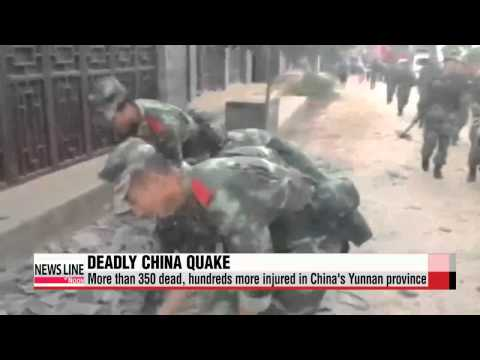 More than 360 dead after earthquake in China's Yunnan Province