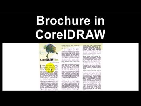 Making a brochure in CorelDraw