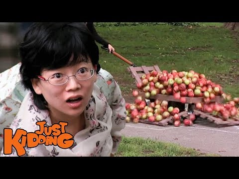 APPLES OVER HOPSCOTCH PRANK - Just Kidding
