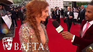 Eleanor Tomlinson Red Carpet Interview  Bafta Tv Awards 2017