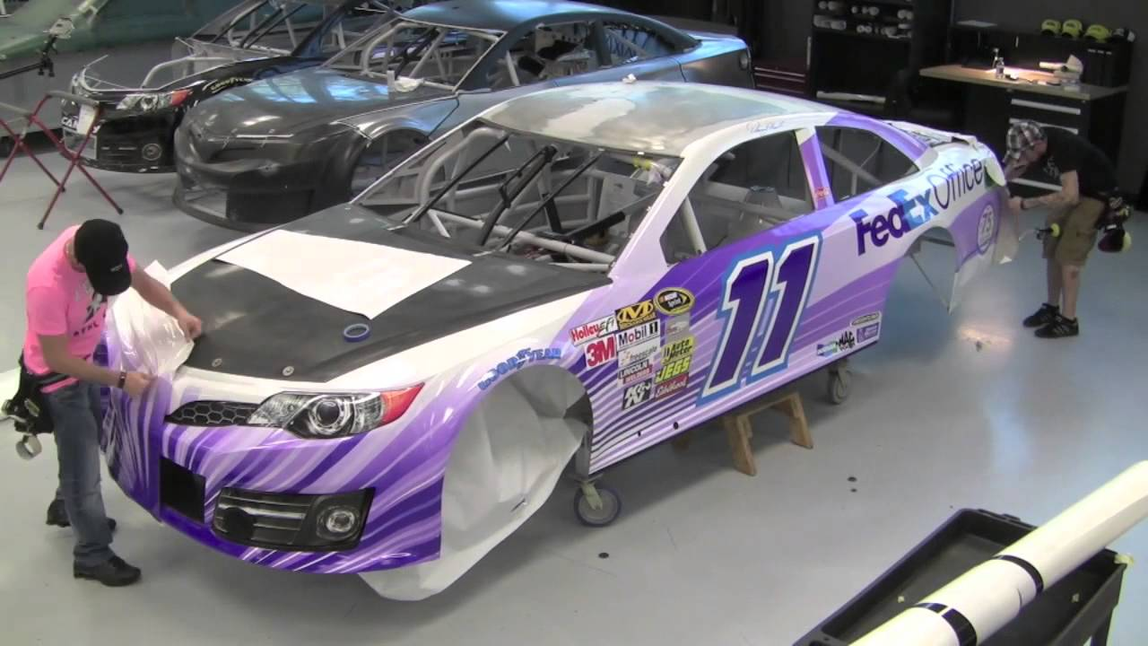 Fedex March Of Dimes Nascar Race Car Wrap In Time Lapse