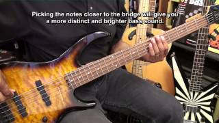 Getting Started On The 5 String Electric Bass Guitar Lesson #1 EricBlackmonMusicHD