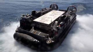 Lcac Hovercraft Launches From The Uss Bataan