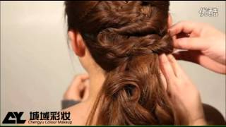 Bới tóc cô dâu kiểu Hàn quốc