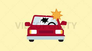 Car Crash Icon Animation [MOV & GIF]