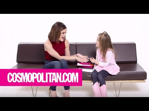 Little girl giving dating advice