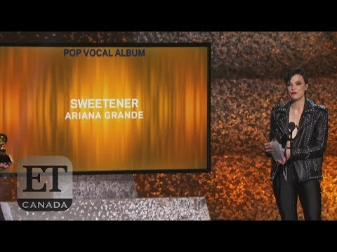 Ariana Grande Reacts To First Grammy Win