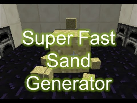 Minecraft 1.7.4 - Super Fast Sand Generator - Showcase