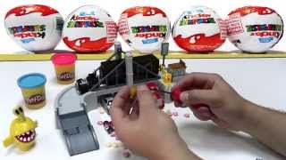 Kinder surprise egg from, small car and a robot, Play Bridge, toy cars for children