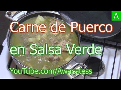 Como hacer Carne de Puerco en Salsa Verde, recetas de carne de puerco en salsa verde con papas