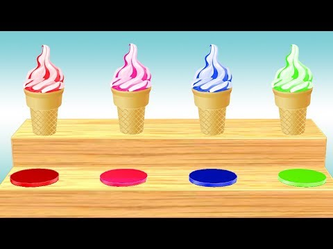 Ice Cream Video For Children || Learn Cone Ice Cream Colors and Nursery Rhymes For Kids thumbnail