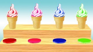 Ice Cream Video For Children || Learn Cone Ice Cream Colors and Nursery Rhymes For Kids