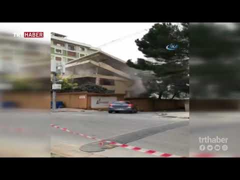 İstanbul'da bir binanın yıkım çalışması sırasında faciadan dönüldü.