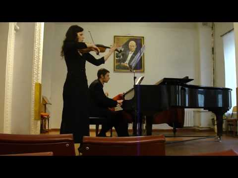 Иоганн Себастьян Бах - Соната для скрипки и клавира №5 фа минор