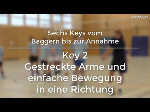 Stefan Hübner - Baggern/Annahme - Key 2: Gestreckte Arme und einfache Bewegung in eine Richtung