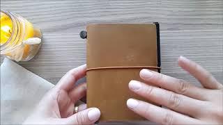 cüzdan / pasaport boy traveler's notebook kurulumum //camel passport size traveler's notebook setup