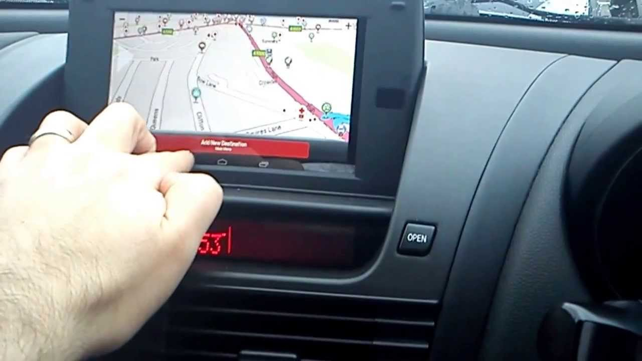 Nexus 7 Installed In Mazda Rx8 Oem Sat Nav Housing Youtube