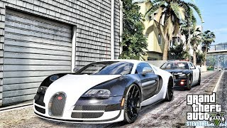 GTA 5 REAL LIFE MOD #664 - THE BUGATTI'S OUT TODAY(GTA 5 REAL LIFE MODS)