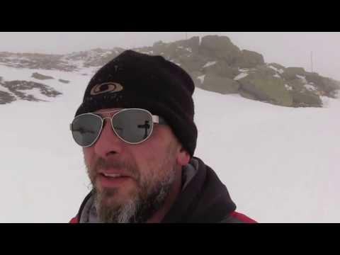 Словакия зима  гора Хопок спуск по южному склону