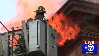 BREAKING NEWS:  Huge fire in Hamilton Heights