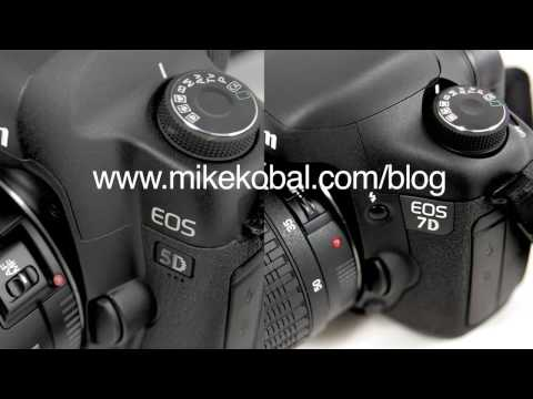 Canon EOS 5D mark II or vs Canon EOS 7D: compared. which one is better?