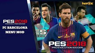PES 2018 MOBILE V2.2.0 ♦ FC BARCELONA MENU MOD ♦ FREE DOWNLOAD APK+OBB FOR ANDROID