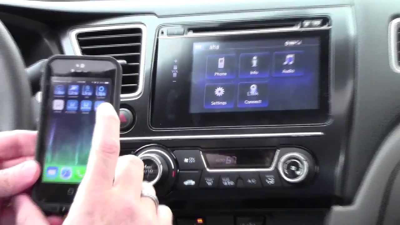HondaLink Navigation Demo for 2014 Honda Civic with iPhone ...