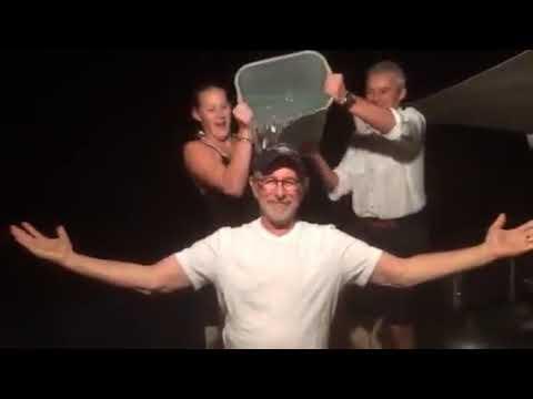 Steven Spielberg Accepts The ALS Ice Bucket Challenge From Oprah Winfrey