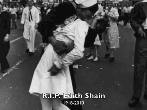 Inaccurate Singles Tribute to Edith Shain - Nurse kissing in WWII photo