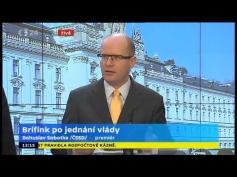 B Sobotka: Vláda schválila fiskální pakt EU