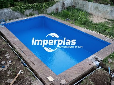 Plastificado de piscina de hormigon imperplas argentina for Reparacion de piscinas