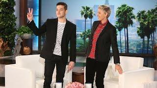 Rami Malek Makes His 'Ellen' Debut